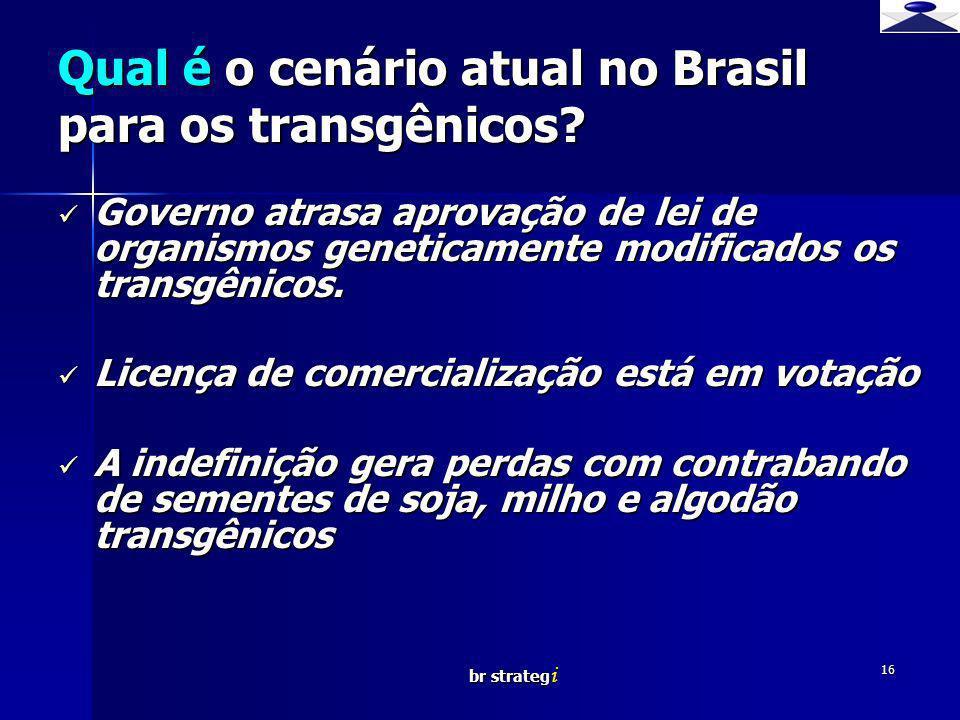 Qual é o cenário atual no Brasil para os transgênicos