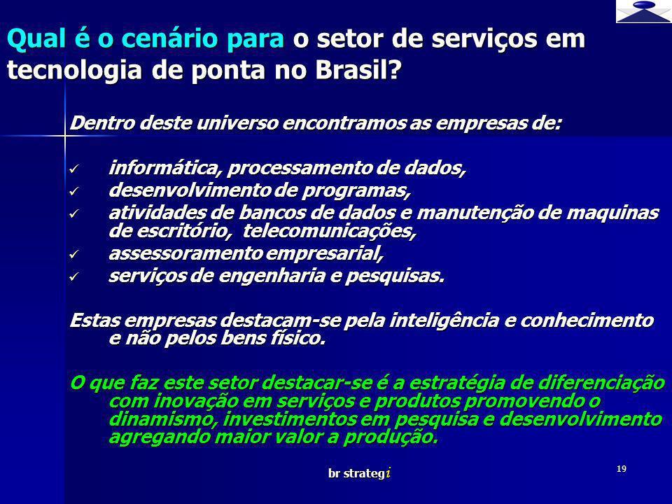 Qual é o cenário para o setor de serviços em tecnologia de ponta no Brasil