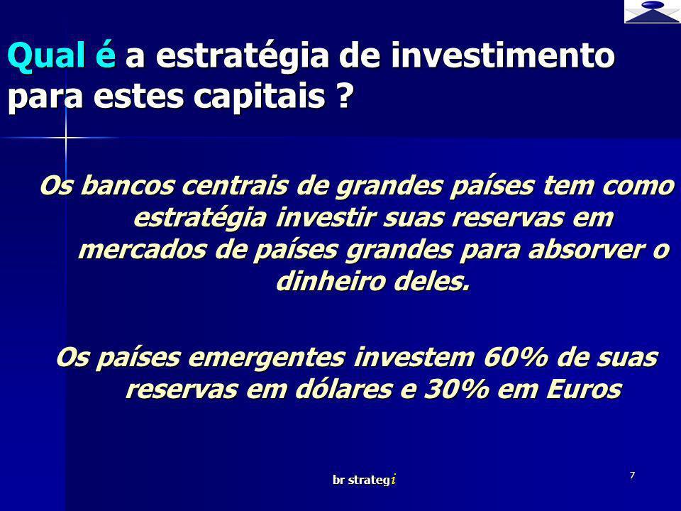 Qual é a estratégia de investimento para estes capitais