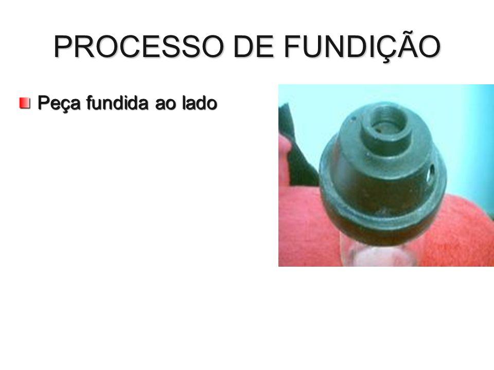 PROCESSO DE FUNDIÇÃO Peça fundida ao lado