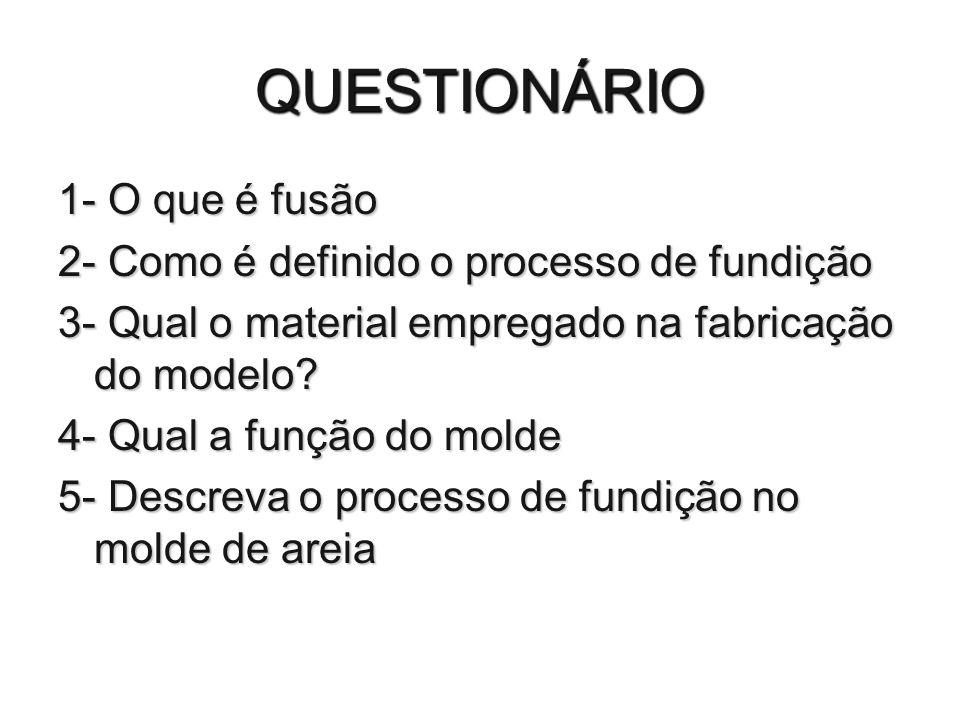 QUESTIONÁRIO 1- O que é fusão
