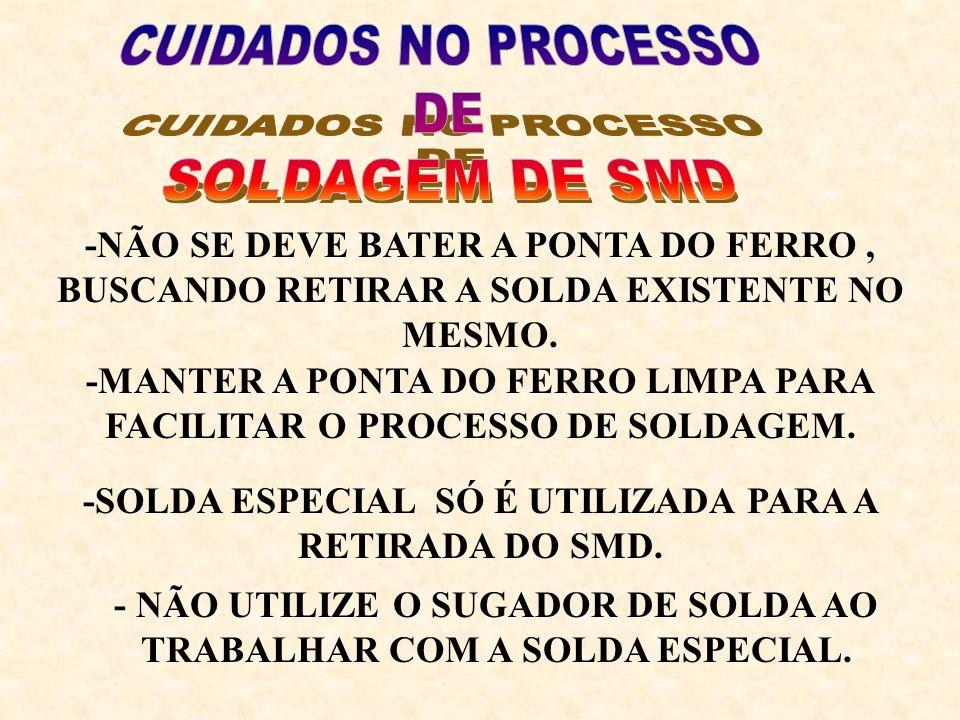 CUIDADOS NO PROCESSO DE SOLDAGEM DE SMD