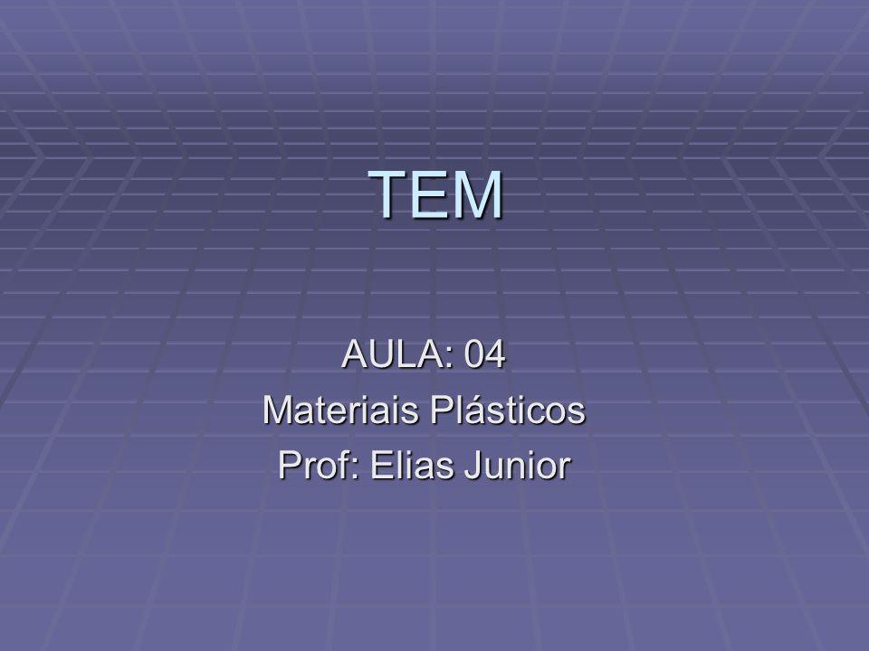 AULA: 04 Materiais Plásticos Prof: Elias Junior