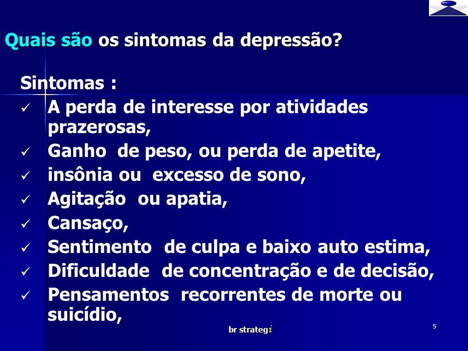 Quais são os sintomas da depressão