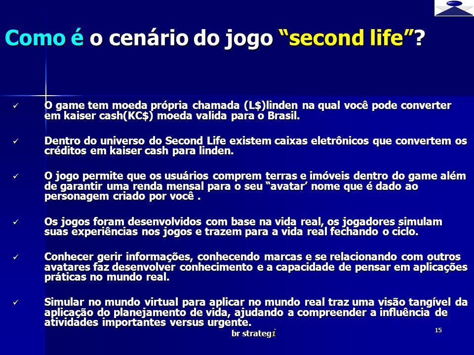 Como é o cenário do jogo second life