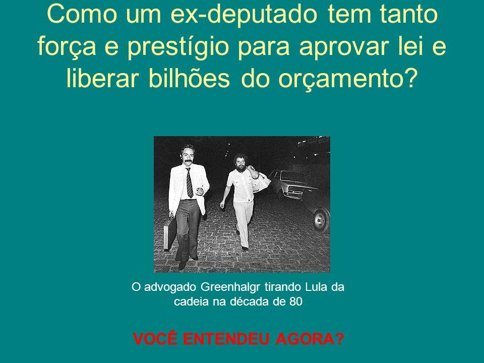 O advogado Greenhalgr tirando Lula da cadeia na década de 80
