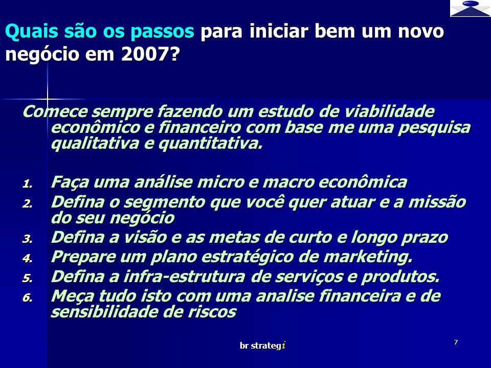 Quais são os passos para iniciar bem um novo negócio em 2007