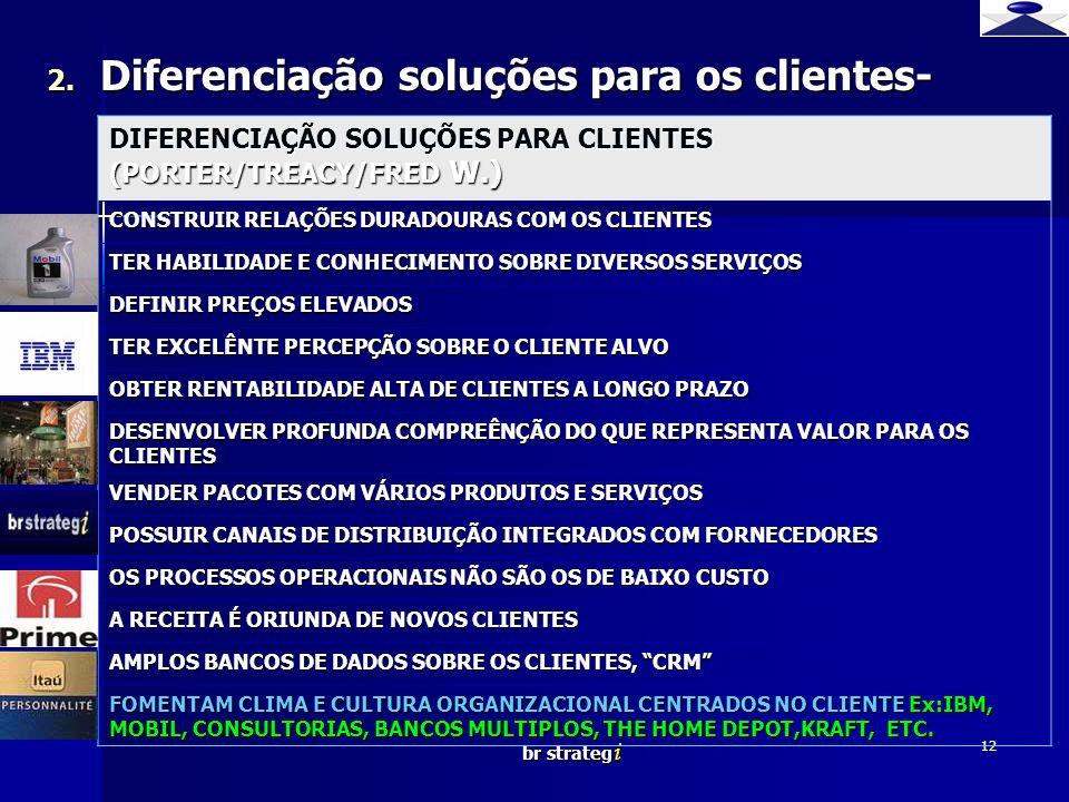 Diferenciação soluções para os clientes-