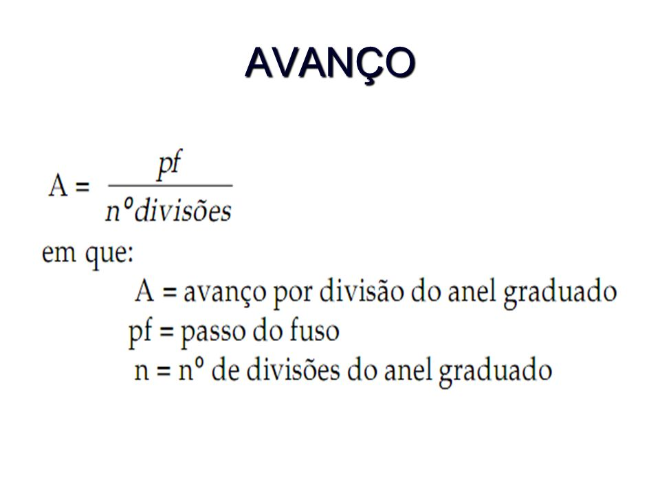 AVANÇO