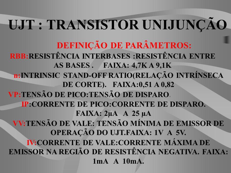 UJT : TRANSISTOR UNIJUNÇÃO