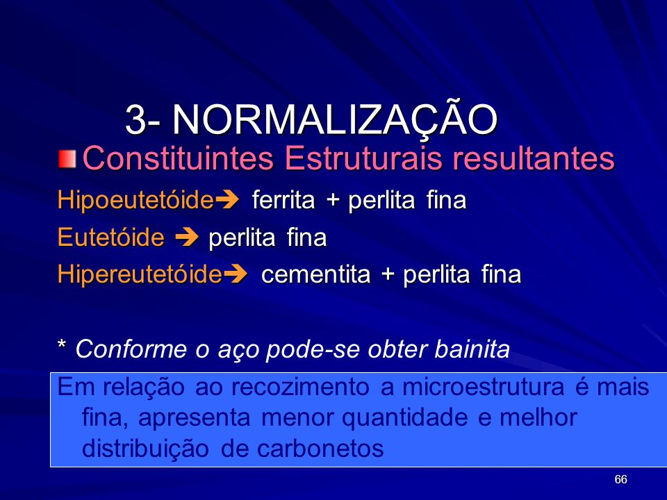 3- NORMALIZAÇÃO Constituintes Estruturais resultantes