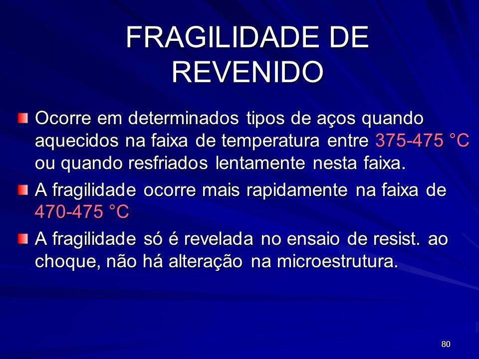 FRAGILIDADE DE REVENIDO