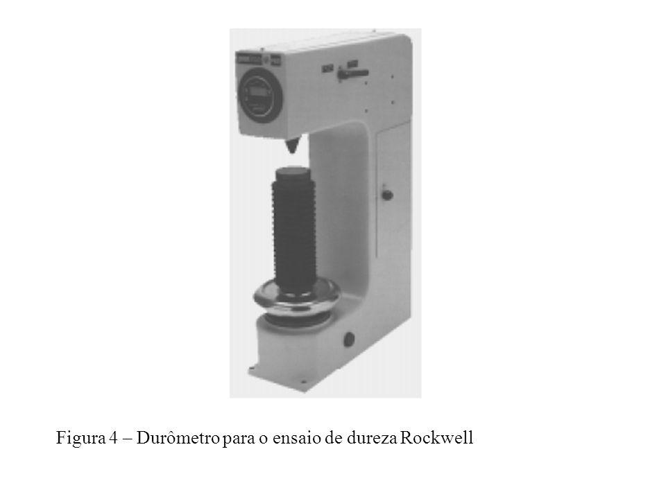 Figura 4 – Durômetro para o ensaio de dureza Rockwell