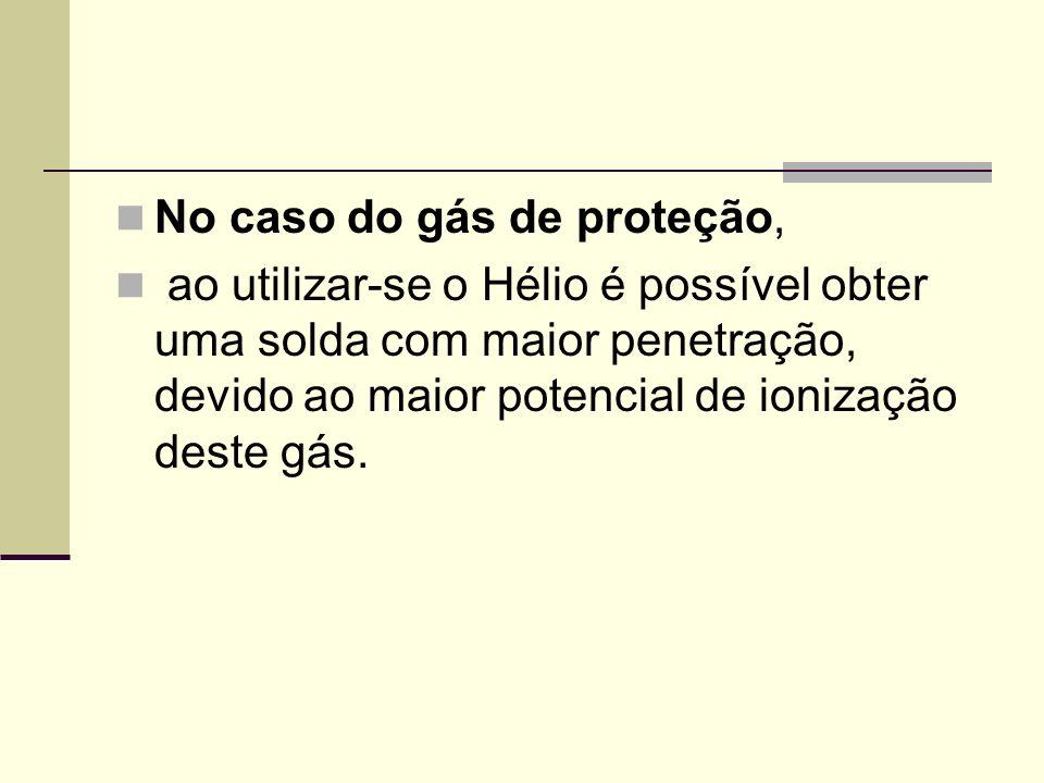 No caso do gás de proteção,