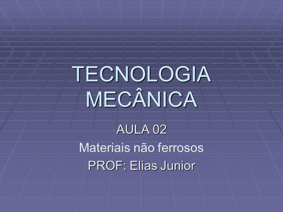 AULA 02 Materiais não ferrosos PROF: Elias Junior