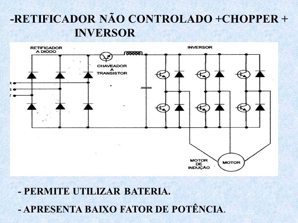 -RETIFICADOR NÃO CONTROLADO +CHOPPER + INVERSOR