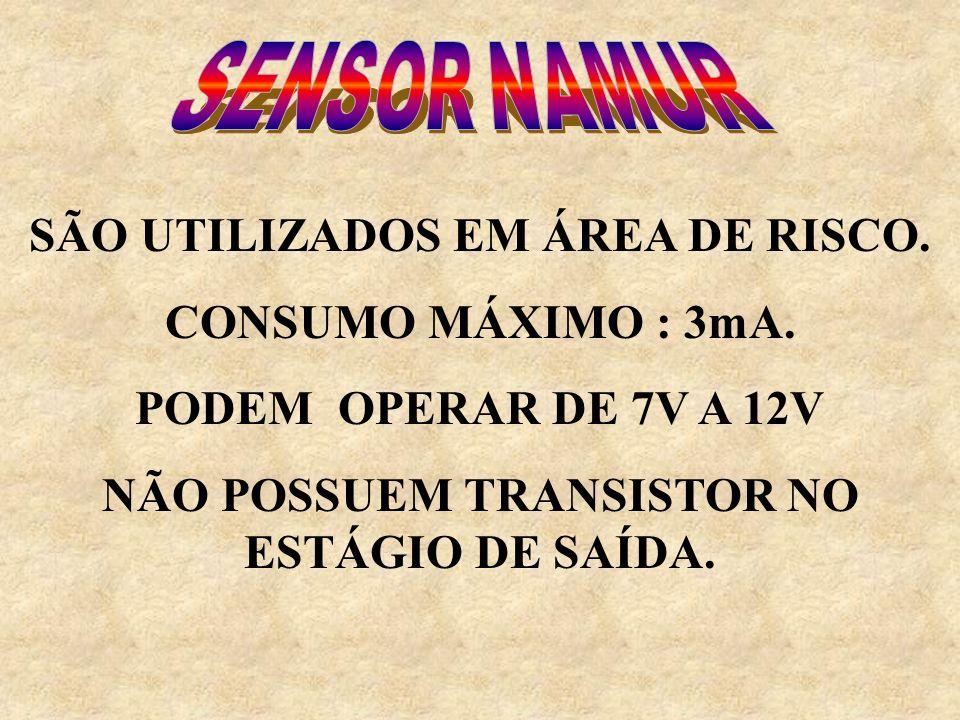 SÃO UTILIZADOS EM ÁREA DE RISCO. CONSUMO MÁXIMO : 3mA.