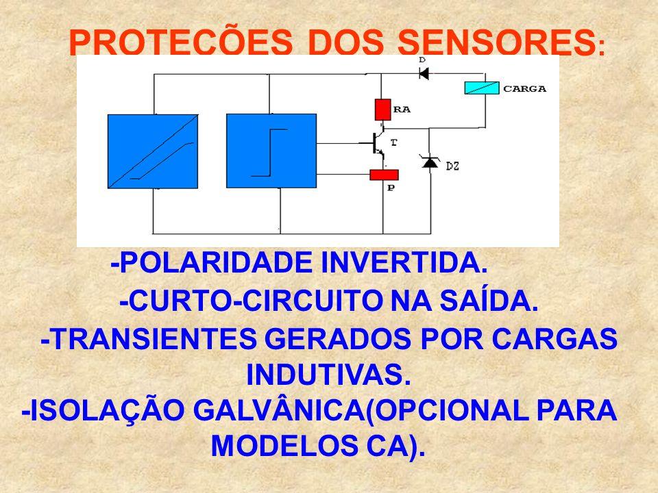 PROTEÇÕES DOS SENSORES: