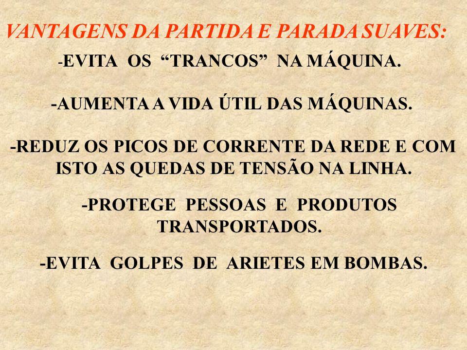 VANTAGENS DA PARTIDA E PARADA SUAVES: