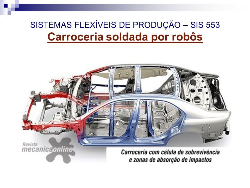 SISTEMAS FLEXÍVEIS DE PRODUÇÃO – SIS 553 Carroceria soldada por robôs