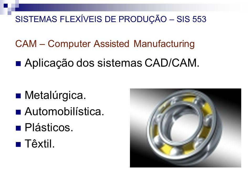 Aplicação dos sistemas CAD/CAM. Metalúrgica. Automobilística.
