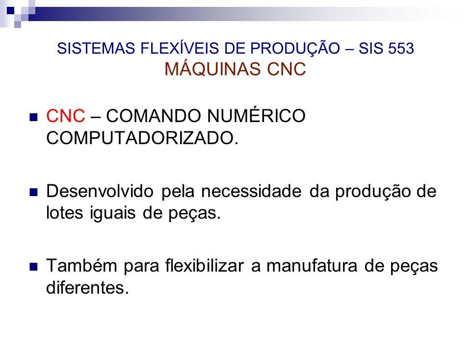 SISTEMAS FLEXÍVEIS DE PRODUÇÃO – SIS 553 MÁQUINAS CNC