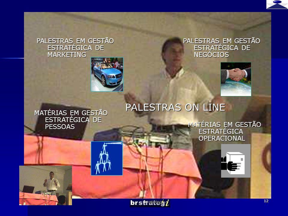 PALESTRAS ON LINE PALESTRAS EM GESTÃO ESTRATÉGICA DE MARKETING