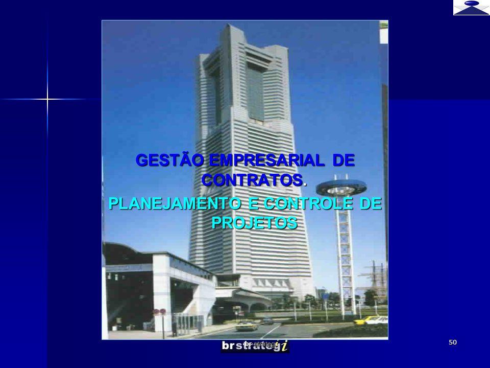 GESTÃO EMPRESARIAL DE CONTRATOS. PLANEJAMENTO E CONTROLE DE PROJETOS