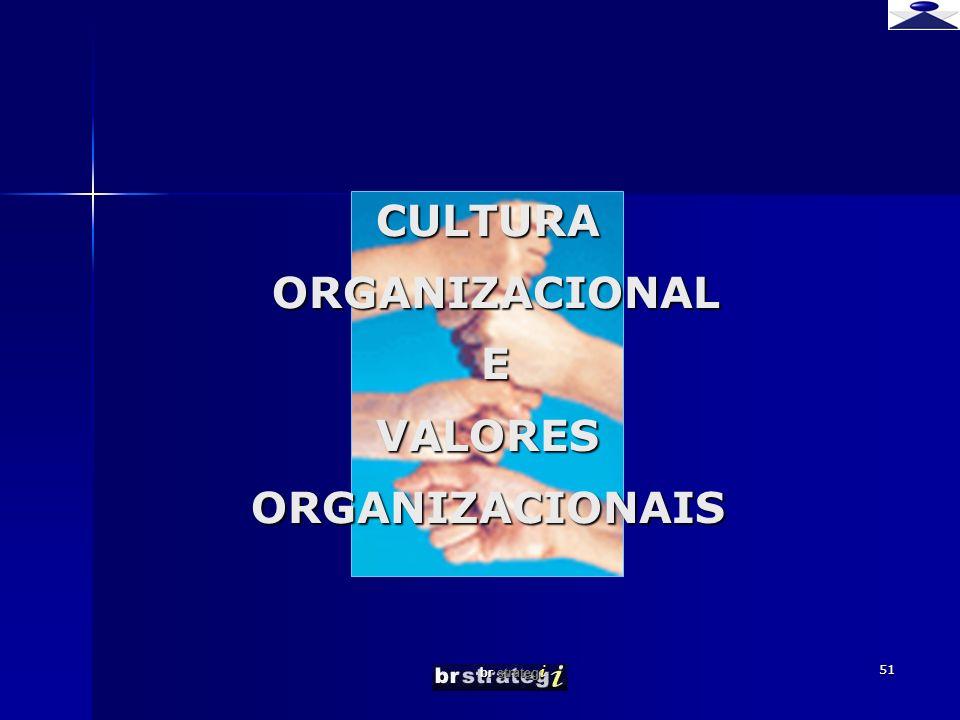 CULTURA ORGANIZACIONAL E VALORES ORGANIZACIONAIS