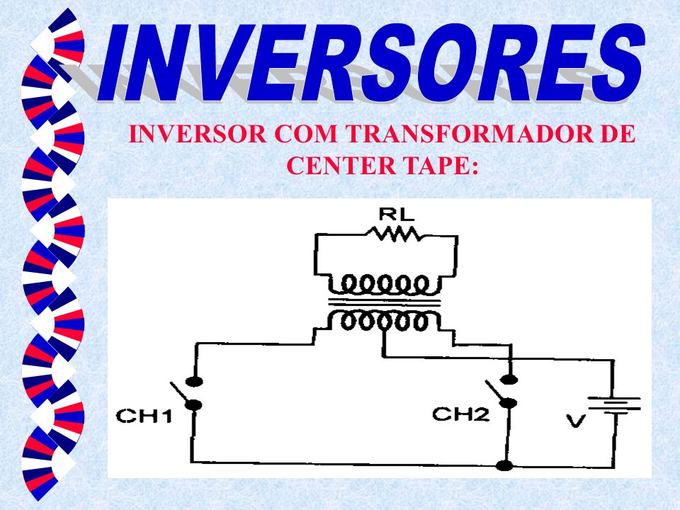 INVERSOR COM TRANSFORMADOR DE CENTER TAPE: