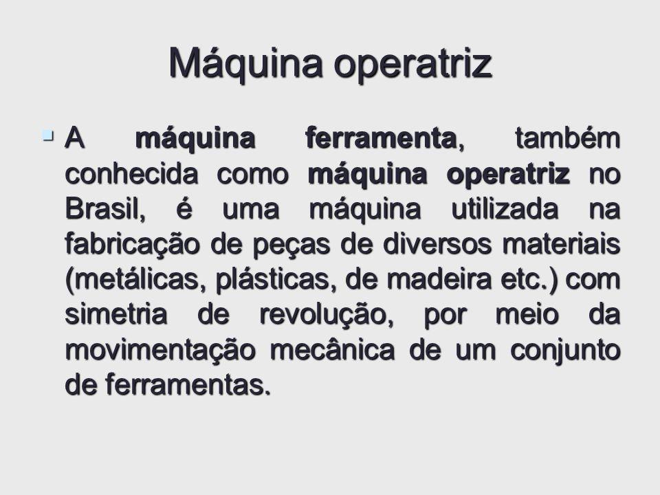 Máquina operatriz