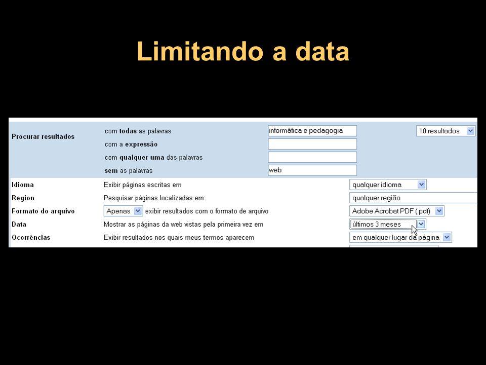 Limitando a data