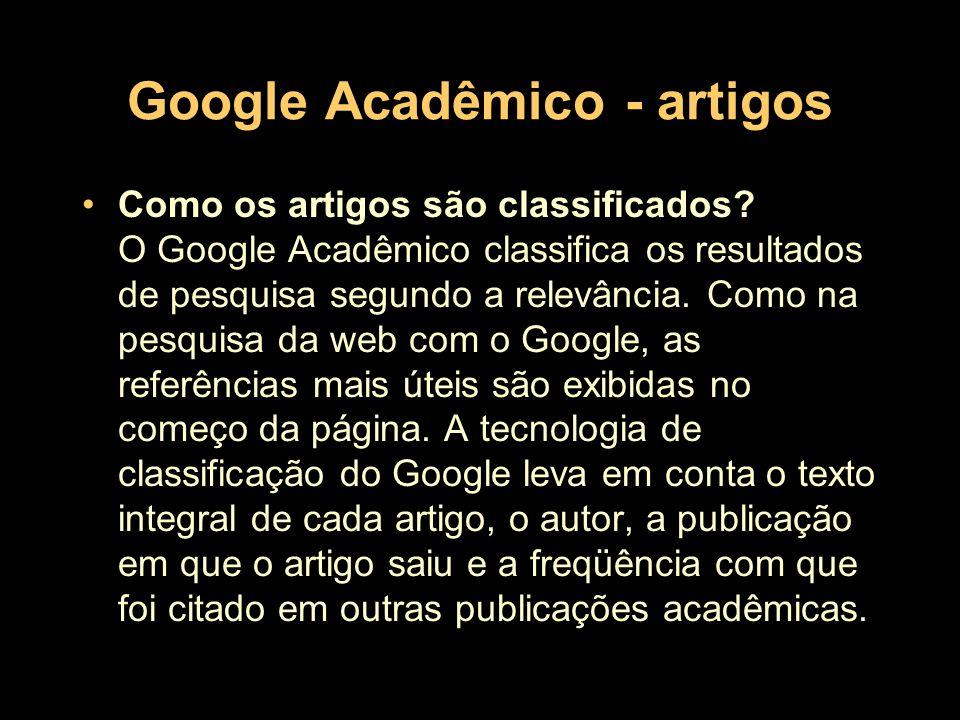 Google Acadêmico - artigos