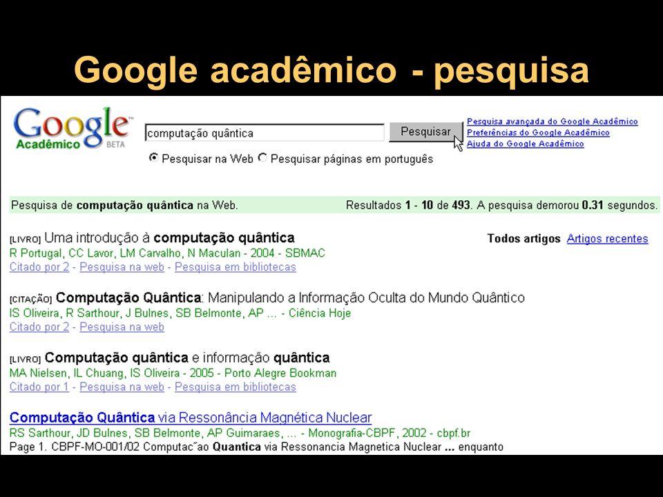 Google acadêmico - pesquisa