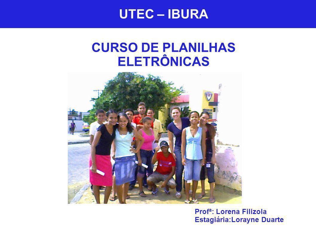 CURSO DE PLANILHAS ELETRÔNICAS