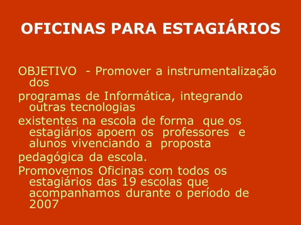 OFICINAS PARA ESTAGIÁRIOS