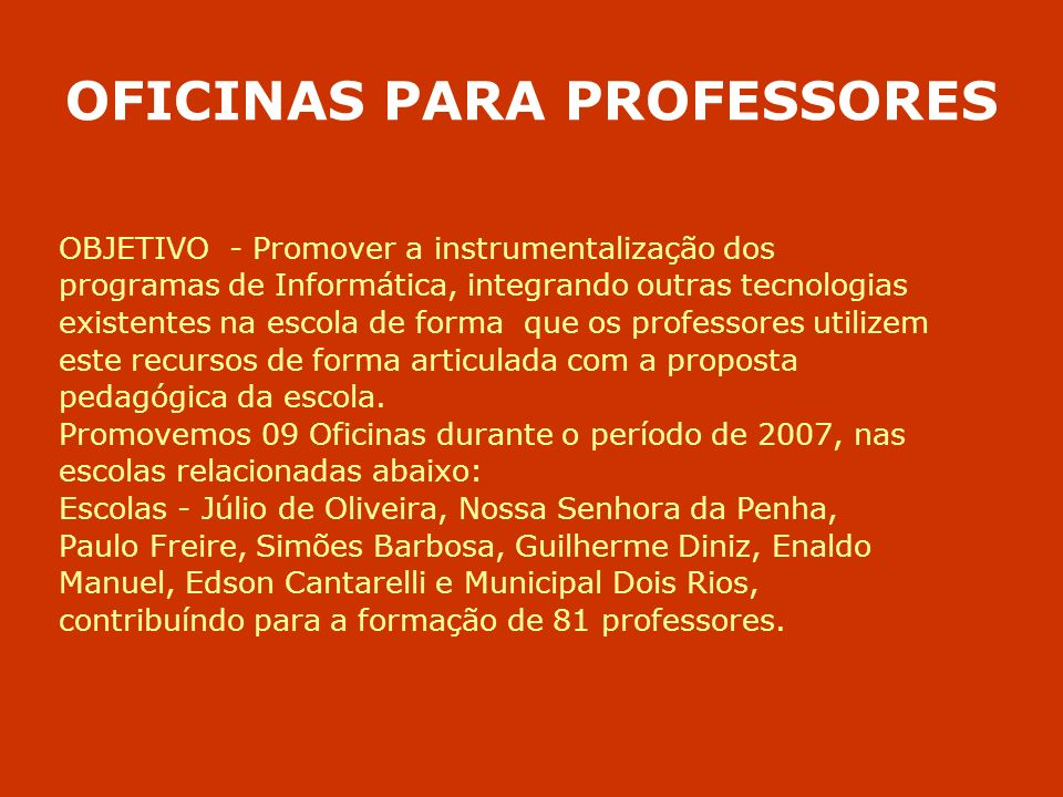 OFICINAS PARA PROFESSORES