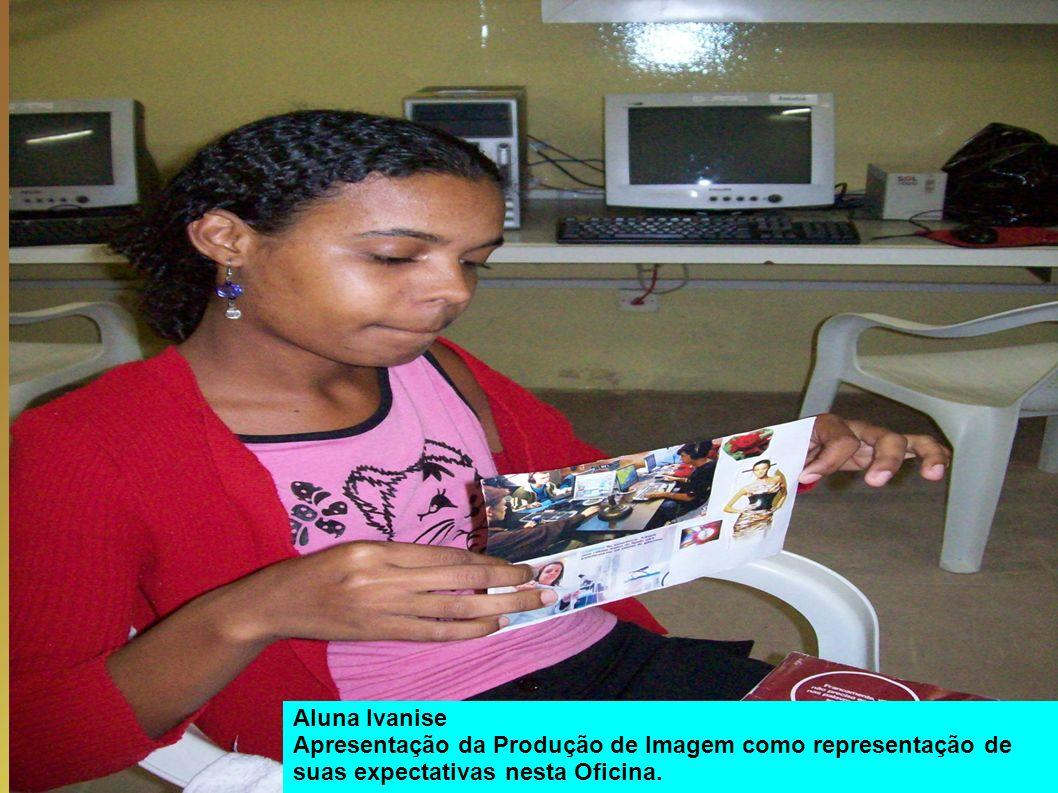 Aluna Ivanise Apresentação da Produção de Imagem como representação de suas expectativas nesta Oficina.