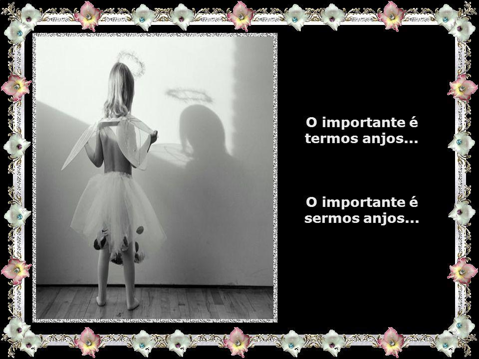 O importante é termos anjos... O importante é sermos anjos...