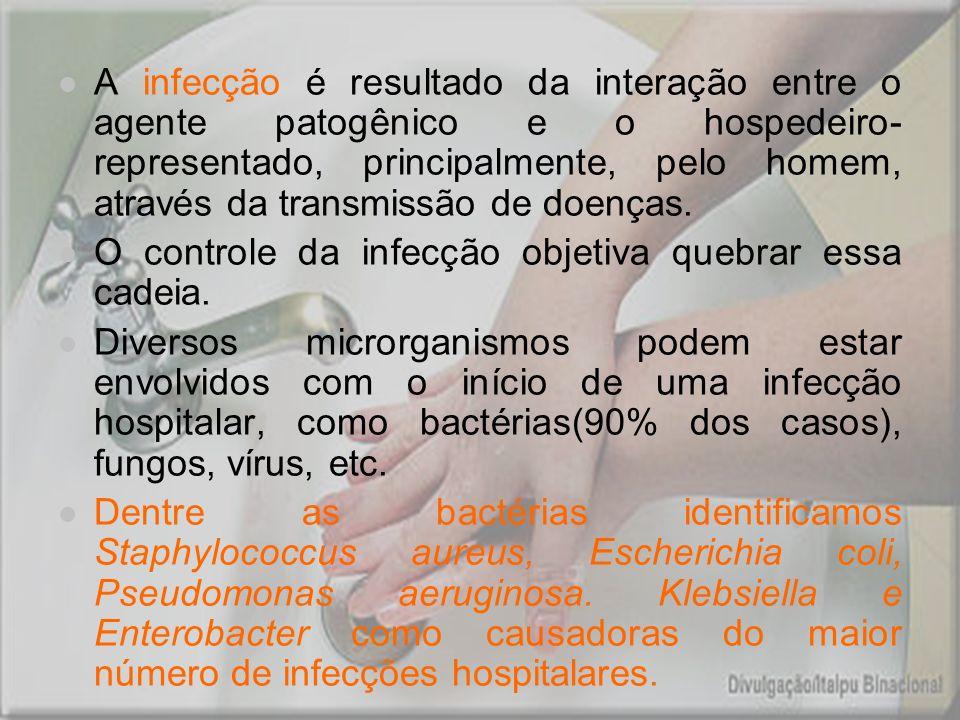 A infecção é resultado da interação entre o agente patogênico e o hospedeiro-representado, principalmente, pelo homem, através da transmissão de doenças.