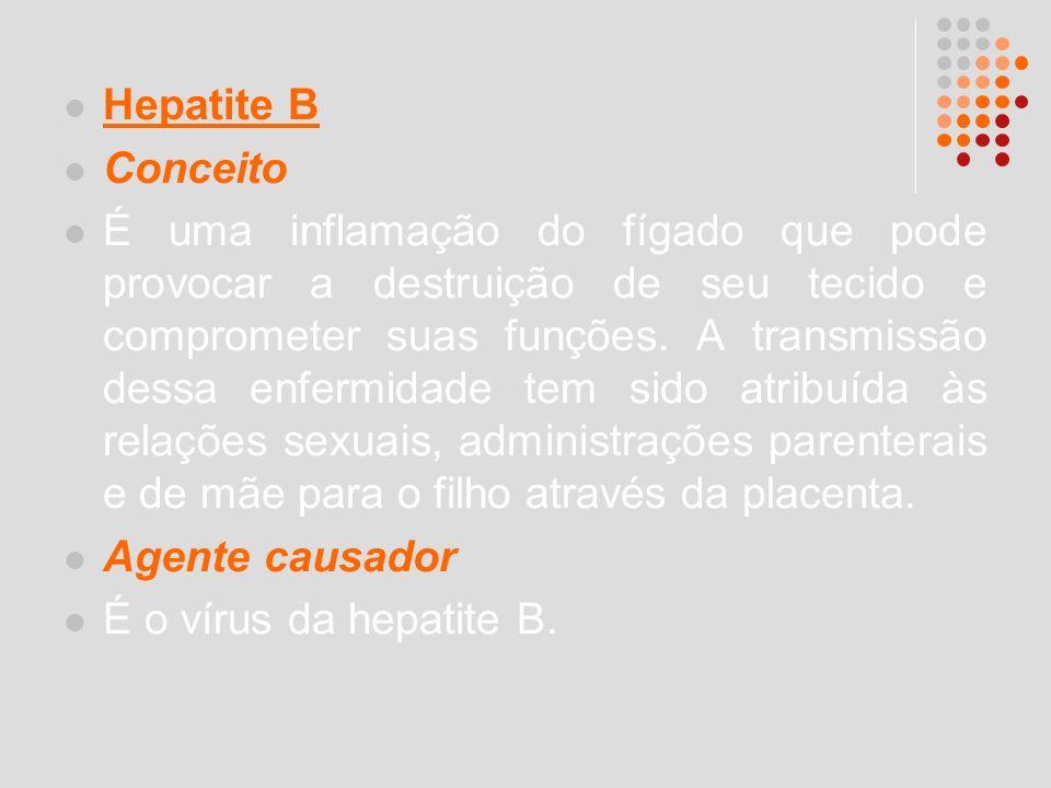 Hepatite B Conceito.
