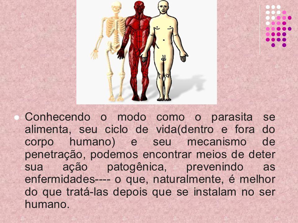 Conhecendo o modo como o parasita se alimenta, seu ciclo de vida(dentro e fora do corpo humano) e seu mecanismo de penetração, podemos encontrar meios de deter sua ação patogênica, prevenindo as enfermidades---- o que, naturalmente, é melhor do que tratá-las depois que se instalam no ser humano.
