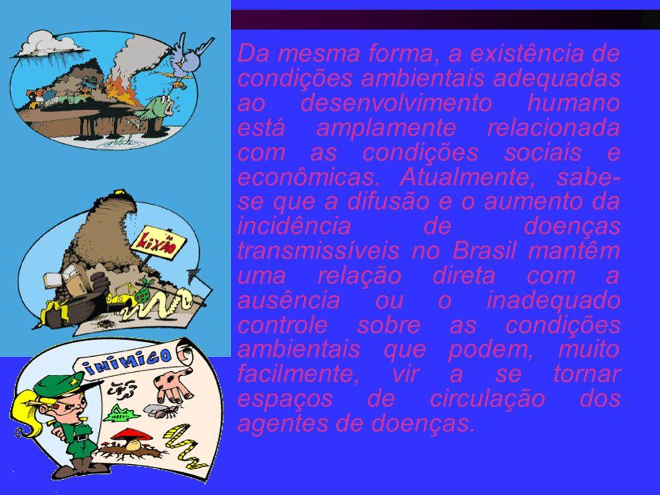 Da mesma forma, a existência de condições ambientais adequadas ao desenvolvimento humano está amplamente relacionada com as condições sociais e econômicas.