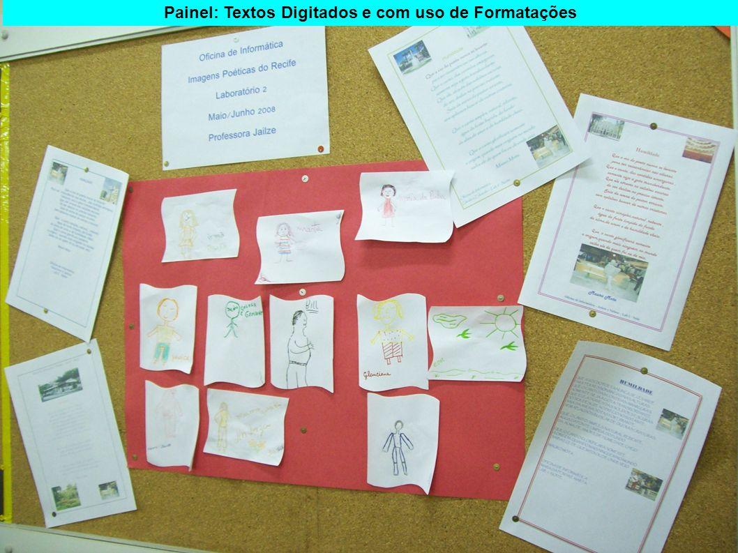 Painel: Textos Digitados e com uso de Formatações