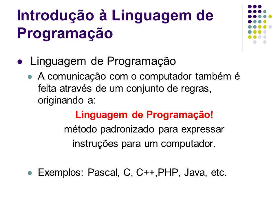 Introdução à Linguagem de Programação