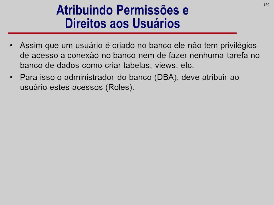 Atribuindo Permissões e Direitos aos Usuários