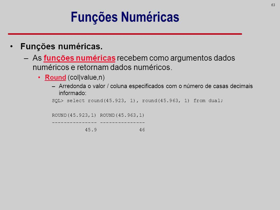 Funções Numéricas Funções numéricas.