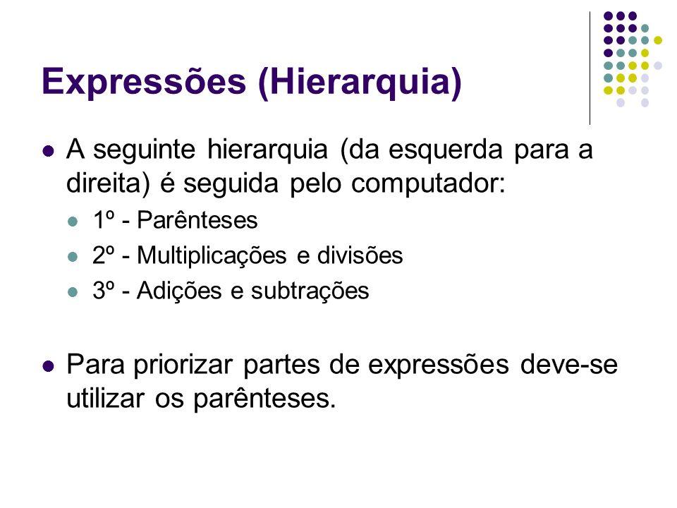 Expressões (Hierarquia)