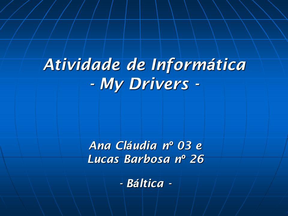Atividade de Informática - My Drivers -