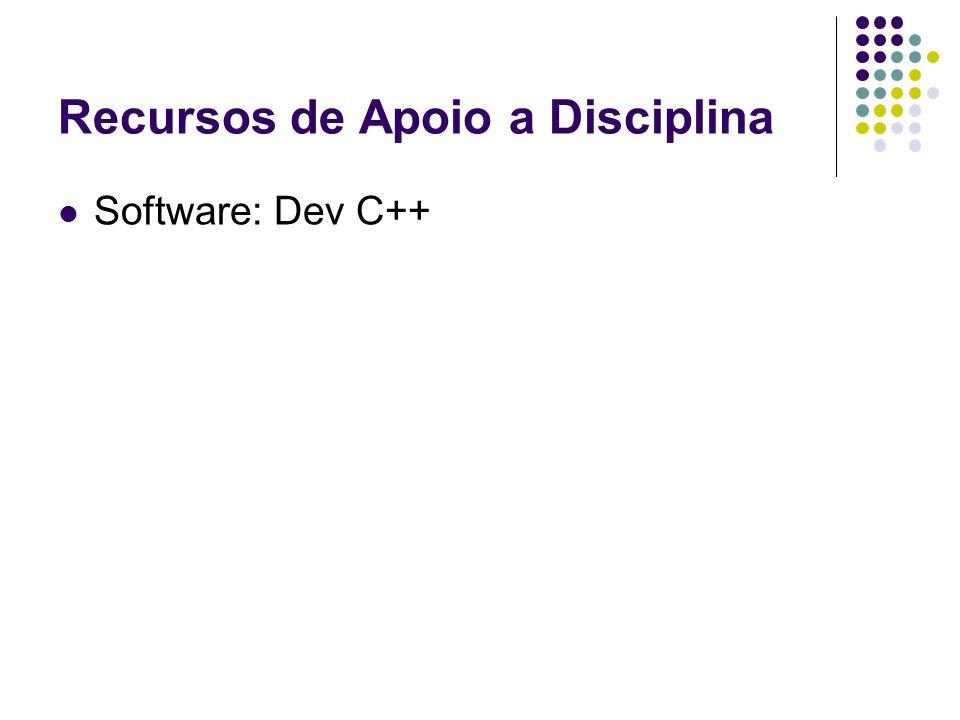Recursos de Apoio a Disciplina
